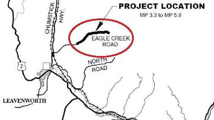 Work begins on Eagle Creek Road improvement project image